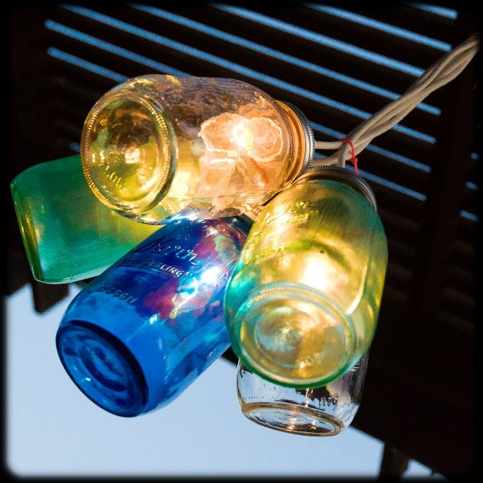 colored light jars