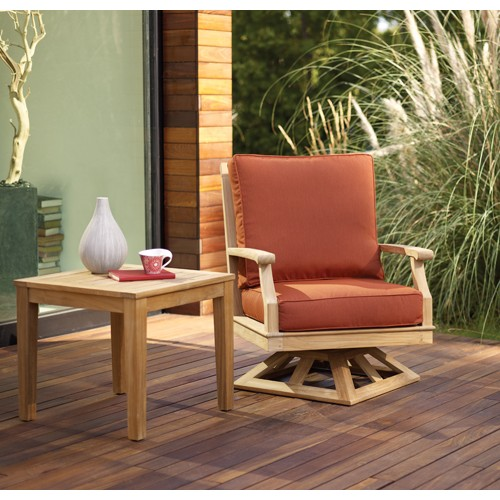 Cape Outdoor Swivel Club Chair