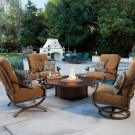 Casual Fireside Hammered Copper Fire Pit